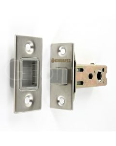 Architectural Quality Magnetic Tubular Mortice Latch - Satin Stainless Steel
