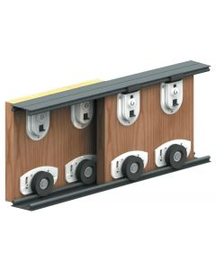 Bottom Rolling Sliding Door Gear System For Cupboard Doors - For Doors Up To 70kg In Weight
