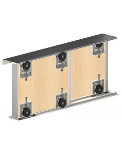 Ares 3 - Premium Sliding Door Gear System For Cupboard Doors - Doors Up To 70kg In Weight