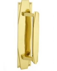Art Deco Pull Handle on Backplate