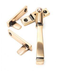 Avon Pattern Locking Night Vent Handle - Window Fastener - Reversible - Polished Solid Bronze