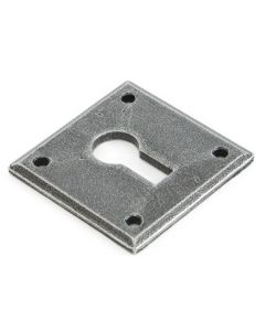 Avon Standard Profile Escutcheon - Face Fixed - Pewter