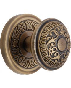 Aydon Mortice Knobs - Antique Brass