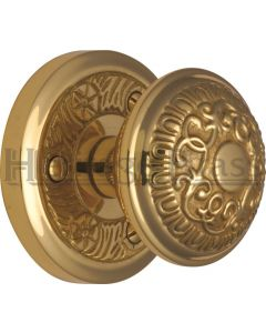 Aydon Mortice Knobs - Polished Brass