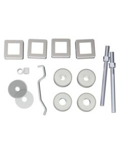 Back To Back Fixing Kit For 22mm x 22mm Square Shape Pull Handles - Satin Stainless Steel