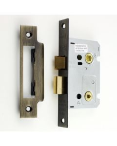 Economy Mortice Bathroom Lock - To Suit 5mm Spindle - Florentine Bronze - (Antique Finish)