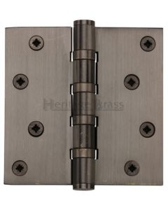 Ball Bearing Broad Butt Projection Hinges - 102mm x 102mm - Matt Bronze
