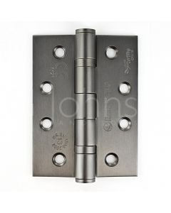 Ball Bearing Fire Rated Door Hinges -  Grade 13 - CE Marked - Certifire Approved - 120kg Weight Limit - 102 x 76mm - Matt Bronze