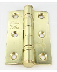 Ball Bearing Hinges - 76mm x 50mm - Satin Brass