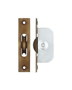 Ball Bearing Pulleys - Square Forend - For Sliding Sash Windows With Solid Brass Wheel - Florentine Bronze