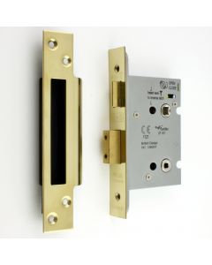 Architectural Quality Mortice Bathroom Lock - PVD Brass