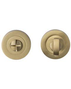 Bathroom Turn & Release Set - Satin Brass