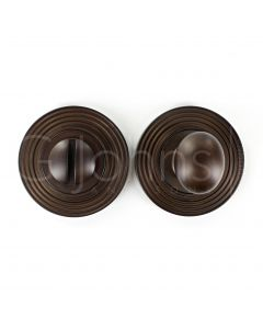bathroom-oval-knob-turn-release-with-reeded-round-rose-53mm-x-10mm-dark-bronze
