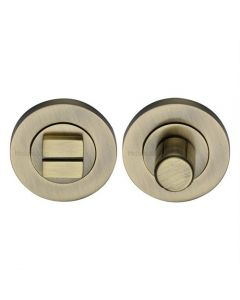 Bathroom Turn & Release With Concealed Fix Round Rose - Antique Brass