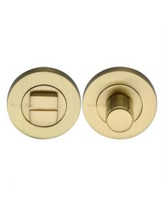 Bathroom Turn & Release With Concealed Fix Round Rose - Satin Brass