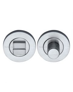 Bathroom Turn & Release With Concealed Fix Round Rose - Satin Chrome