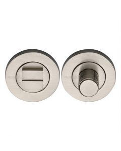 Bathroom Turn & Release With Concealed Fix Round Rose - Satin Nickel