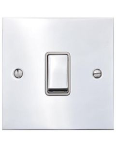 Bauhaus Light Switch & Socket Range - Flat Plate Design With Squared Edges - Polished Chrome