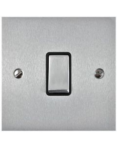 Bauhaus Flat Plate Light Switch & Socket Range - Flat Plate With Squared Edges - Satin Chrome