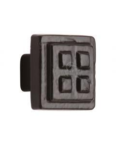 Black Iron Rustic Cabinet Knob Square Craft Design