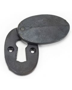 Blacksmith Standard Profile Covered Oval Escutcheon - Face Fixed - Beeswax