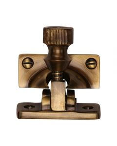 Brighton Sash Fastener- Antique Brass