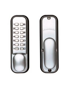 Mechanical Push Button Digital Lock With Tubular Latch And Hold Back Function