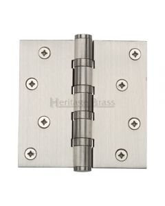 Ball Bearing Broad Butt Projection Hinges - 102mm x 102mm - Satin Nickel