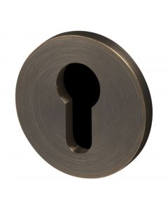 Buster & Punch Euro Profile Cylinder Key Hole Cover Escutcheon Plates - Smoked Bronze