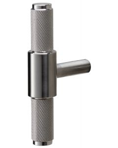 Buster & Punch Diamond Cut Knurled Pattern T-Bar Cabinet Door Pull Handle - Satin Stainless Steel