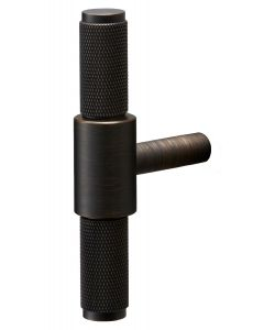 Buster & Punch Diamond Cut Knurled Pattern T-Bar Cabinet Door Pull Handle - Smoked Bronze
