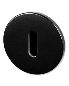 Buster & Punch Standard Profile Key Hole Cover Escutcheon Plates - Black