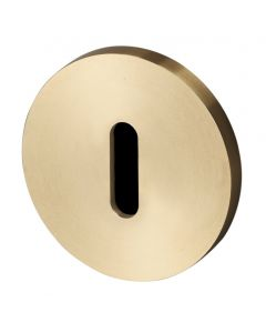 Buster & Punch Standard Profile Key Hole Cover Escutcheon Plates - Satin Brass