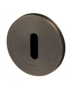 Buster & Punch Standard Profile Key Hole Cover Escutcheon Plates - Smoked Bronze