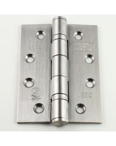 CE Marked - Fire Rated Door Hinges - Ball Bearing Grade 13 - 102 x 76mm - Satin Stainless Steel