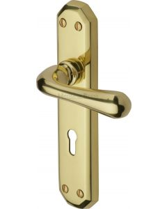 Charlbury Lever Door Handles On A Backplate - Polished Brass - Suitable For Use With FD30 / FD60 Fire Doors