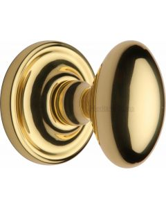 Chelsea Oval Mortice Knobs - Polished Brass
