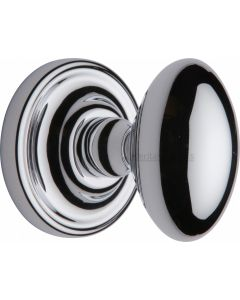 Chelsea Oval Mortice Knobs - Polished Chrome