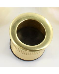 Circular Flush Fitting Edge Pull - 30mm Diameter x 20mm Depth - Polished Brass