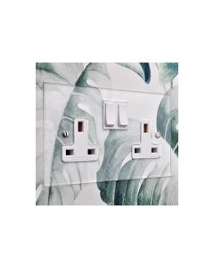 Clarity Light Switch & Socket Range - Flat Plate With Squared Edges - Clear Perspex