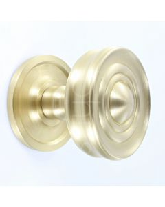 classic-design-mortice-knob-with-raised-front-concealed-fixed-rose-satin-brass