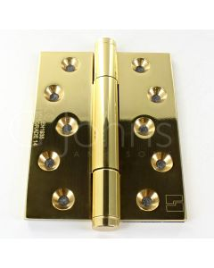 Tritech Concealed Polymer Bearing Grade 14 Hinge - Self Lubricating - CE Marked - Fired Rated - 100mm x 75mm - Polished Brass