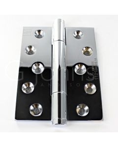 Tritech Concealed Polymer Bearing Grade 14 Hinge - Self Lubricating - CE Marked - Fired Rated - 100mm x 75mm - Polished Chrome
