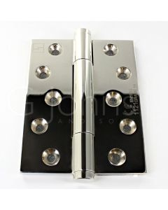 Tritech Concealed Polymer Bearing Grade 14 Hinge - Self Lubricating - CE Marked - Fired Rated - 100mm x 75mm - Polished Nickel