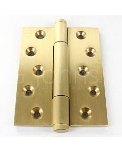 Tritech Concealed Polymer Bearing Grade 14 Hinge - Self Lubricating - CE Marked - Fired Rated - 100mm x 75mm - Satin Brass