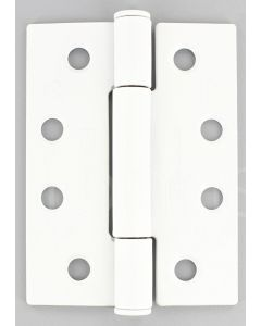 Concealed Polymer Bearing - Grade 13 Hinge - CE Marked - Fired Rated - Certifire Approved - 102mm x 76mm - Matt White Finish