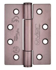 Concealed Polymer Bearing - Self Lubricating Grade 14 Hinges - CE Marked - Fired Rated - Certifire Approved - 102mm x 76mm - Bronze Finish