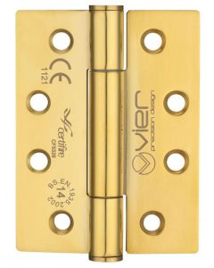 Concealed Polymer Bearing - Self Lubricating Grade 14 Hinges - CE Marked - Fired Rated - Certifire Approved - 102mm x 76mm - PVD Brass
