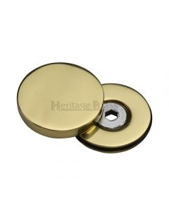 Cover Caps For Bolt Through Fixing Door Handles - Polished Brass
