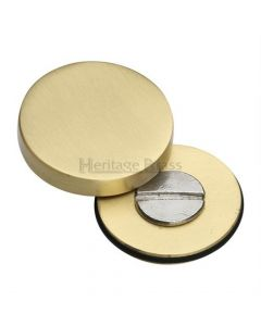 Cover Caps For Bolt Through Fixing Door Handles - Satin Brass